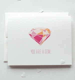 Our Paper Shop Gem Card 300x321 Seasonal Stationery: Valentines Day Cards, Part 5