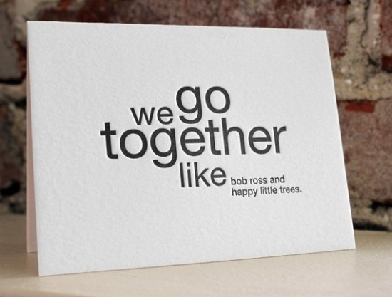 Sapling Press We Go Together Card 550x417 Seasonal Stationery: Valentines Day Cards, Part 3