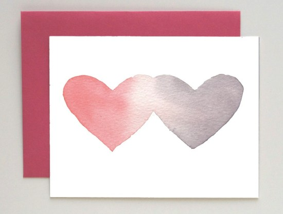 Social Proper Watercolor Valentines 550x417 Seasonal Stationery: Valentines Day Cards, Part 2