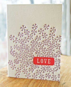 Studio Olivine Love Card 300x364 Seasonal Stationery: Valentines Day Cards, Part 5