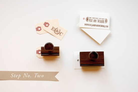 step 2 550x366 DIY Tutorial: Rubber Stamp Vintage Western Wedding Save the Dates + Invitations