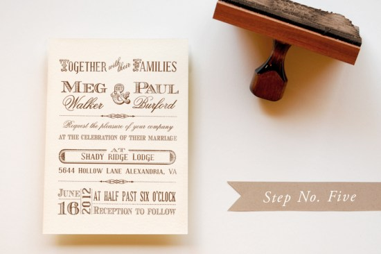 step 5 550x366 DIY Tutorial: Rubber Stamp Vintage Western Wedding Save the Dates + Invitations