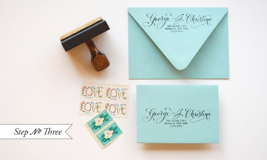 tiff 3 550x330 DIY Tutorial: Little Blue Box Inspired Rubber Stamp Wedding Invitations