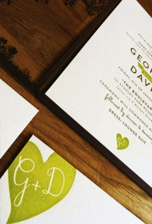 Laser Cut Tree Wedding Invitations6 300x442 Georgie + Daves Nature Inspired Wedding Invitations