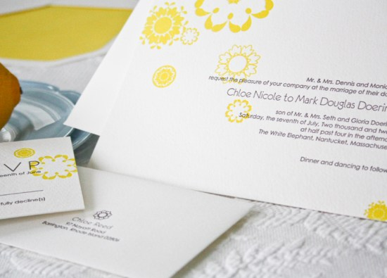 Smudge Ink Letterpress Wedding Invitations Carina 550x395 Wedding Invitations by Smudge Ink