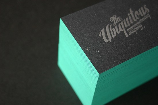 Teal Edge Painted Business Card Blush Publishing 550x366 Business Card Ideas and Inspiration #12