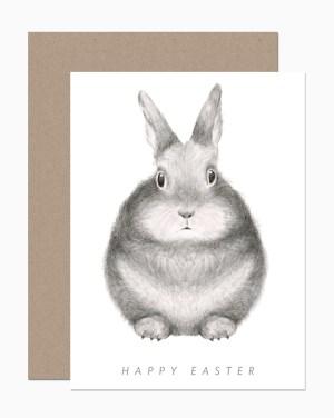 dearhancock easter bunny 300x376 Spring Cards from Dear Hancock