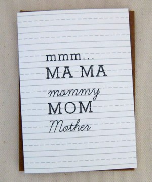 mom paperandcup 300x360 Seasonal Stationery: Mothers Day Cards