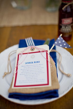 Americana Patriotic Wedding Menu Amber Housley Kristyn Hogan Wedding Stationery Inspiration: Fourth of July