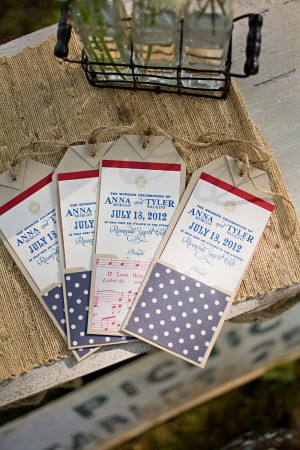 Americana Patriotic Wedding Programs Amber Housley Kristyn Hogan Wedding Stationery Inspiration: Fourth of July