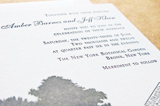 Historic Stone Mill Letterpress Wedding Invitations Laura Macchia5 550x366 Amber + Jeffs Historic Stone Mill Letterpress Wedding Invitations