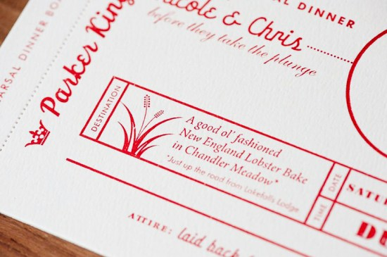 Red White Travel Inspired Wedding Invitations 18 550x365 Nicole + Chriss Modern Travel Inspired Wedding Invitations