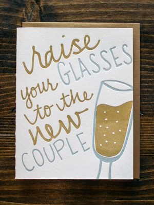 9th Letter Press Wedding Greeting Cards Glass 300x399 Wedding Congratulations Cards from 9th Letter Press