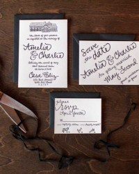 Letterpress Wedding Invitations by 9th Letter Press (5)