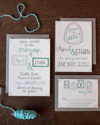Letterpress Wedding Invitations by 9th Letter Press (4)