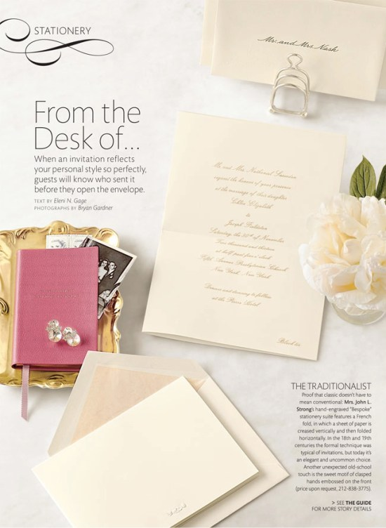 Martha Stewart Weddings Fall 2012 Issue Stationery 550x752 Sneak Peek – Martha Stewart Weddings Fall 2012 Issue!