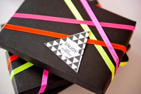 Modern Geometric Triangle Favor Tags Ham and Pea Design and Paperie Lee Bird Photography 550x365 Wedding Stationery Inspiraton: Geometric