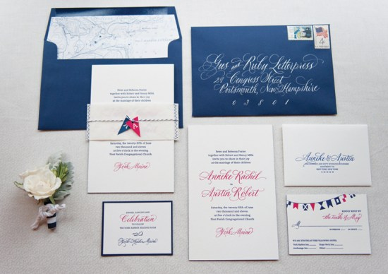 GusRuby AA 1 Large RGB 550x388 Anneke & Austins Nautical Inspired Wedding Invitations