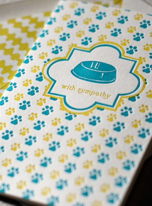 petbowl letterpresscard 300x407 Stationery A – Z: Pet Sympathy Cards