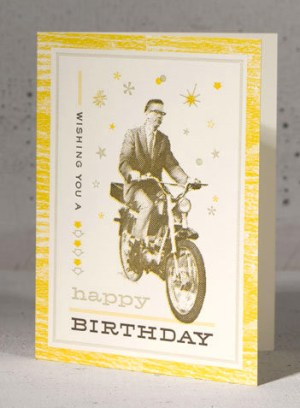 scooter guy birthday 300x408 Stationery A – Z: Birthday Cards for the Guys