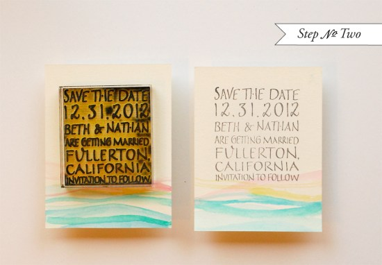 susnet 2 550x382 DIY Tutorial: Palm Springs Mod Watercolor Save the Date