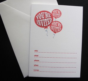 Youre Invited Invites Letterpress 300x274 Stationery A – Z: General Party Invitations