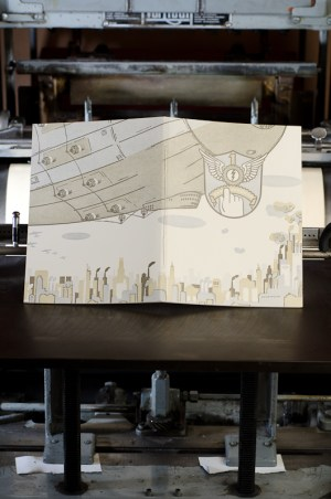 Airship Letterpress Graphic Novel Angel Bomb Design 11 300x452 Airship: A Letterpress Graphic Novel