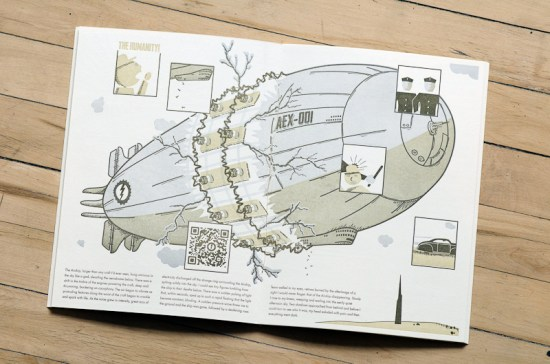 Airship Letterpress Graphic Novel Angel Bomb Design 4 550x364 Airship: A Letterpress Graphic Novel