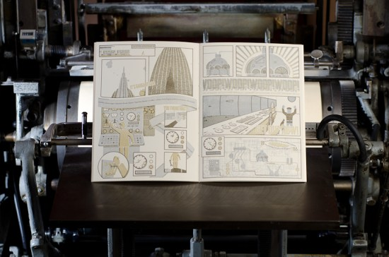 Airship Letterpress Graphic Novel Angel Bomb Design 8 550x364 Airship: A Letterpress Graphic Novel