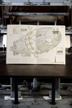 Airship Letterpress Graphic Novel Angel Bomb Design 9 300x452 Airship: A Letterpress Graphic Novel