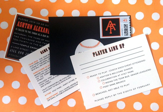 Bar Mitzvah Invitations SF Giants PS Paper4 550x378 Baseball Inspired Bar Mitzvah Invitations