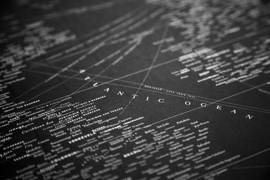 Design Ahoy Black Letterpress Typography Map3 550x367 Quick Pick: Design Ahoy