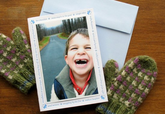 Echo Letterpress Holiday Photo Card 550x378 Seasonal Stationery: Holiday Photo Cards