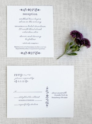 Fall Letterpress Wedding Invitations Arbor Corner Studio4 300x402 Drew + Kyles Floral Fall Wedding Invitations