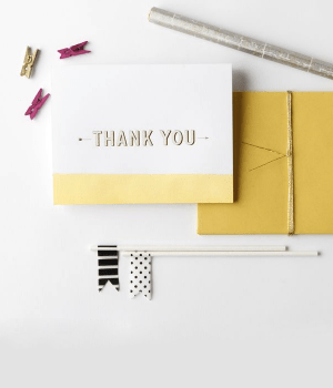 Fig2 Design Dip Dye Thank You Cards Stationery A – Z: Thank You Cards