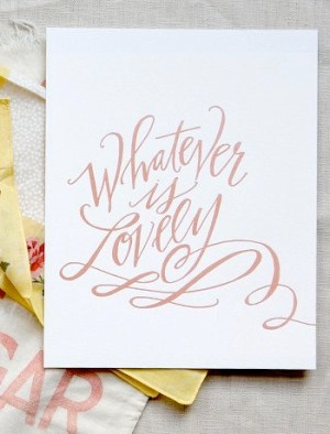Lindsay Letters Lovely Print2 300x394 Hand Lettered Stationery from Lindsay Letters