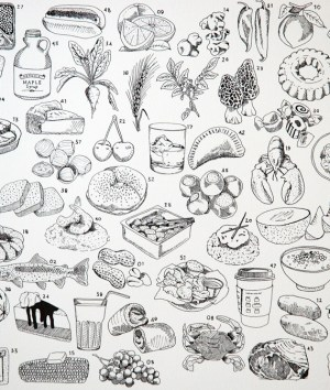 Melangerie State Food Print2 300x354 Quick Pick: Mélangerie State Prints + Totes