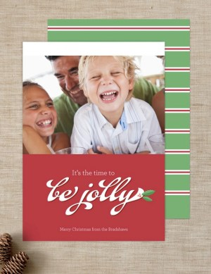Ringleader Paper Co Holiday Photo Card 300x389 Seasonal Stationery: Holiday Photo Cards