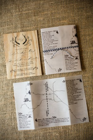 Rustic Wooden Wedding Invitations and Map Fourth Year Studio 5 Rings Photography2 300x450 Sydney + Tims Rustic Wood Wedding Invitations