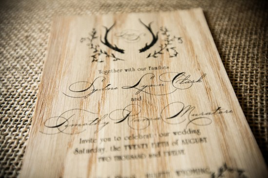 Rustic Wooden Wedding Invitations and Map Fourth Year Studio 5 Rings Photography4 550x366 Sydney + Tims Rustic Wood Wedding Invitations