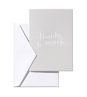Simplesong Calligraphy Thank You Card 300x336 Stationery A – Z: Thank You Cards