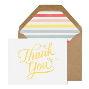 Sugar Paper Happy Thank You Card 300x300 Stationery A – Z: Thank You Cards