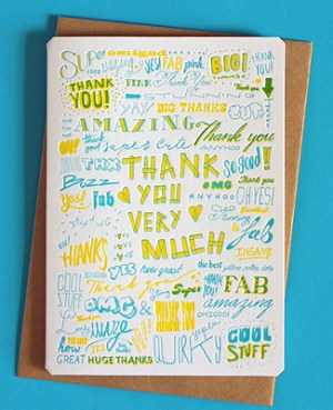The Hungry Workshop Thank You Card 300x369 Stationery A – Z: Thank You Cards