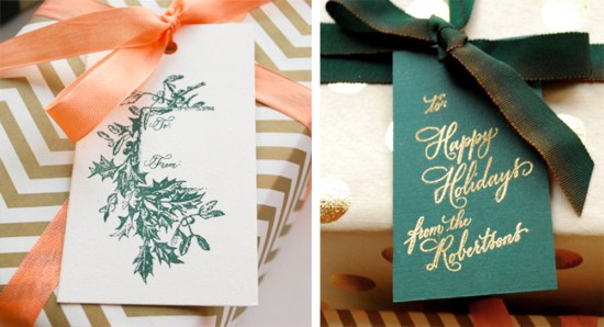 gifts21 550x298 DIY Tutorial: Festive Wrapping with Holiday Gift Tags