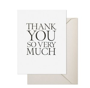 thankyou sovery much 300x294 Stationery A – Z: Thank You Cards