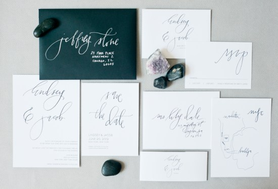 Classic Calligraphed Wedding Invitations Hazel Wonderland 550x374 Calligraphy Wedding Invitation Collection from Hazel Wonderland