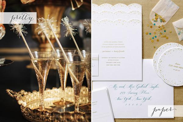 Champagne Sugar Paper Pretty + Paper