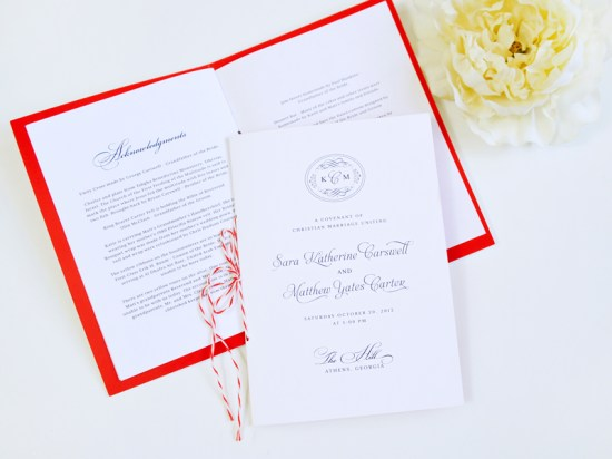 Classic Southern Monogram Wedding Invitations Sase Ink4 550x412 Katie + Matts Classic Southern Wedding Invitations