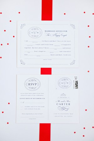 Classic Southern Monogram Wedding Invitations Sase Ink9 300x450 Katie + Matts Classic Southern Wedding Invitations