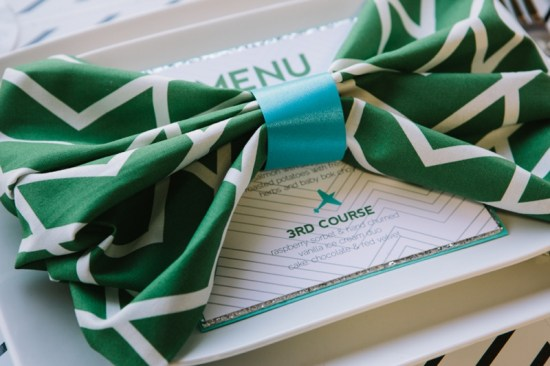 Emerald Green Wedding Menu Ashton Events Justin DeMutiis Photography 550x366 Wedding Stationery Inspiration: Emerald